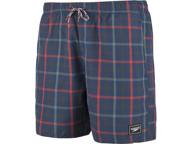 "speedo Check Leisure 16"" Watershorts Herre navy/red"